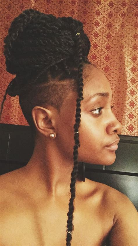 hair cuts that are shaved on both sides and long on the top for women 25 best bantu knots images on pinterest natural hair