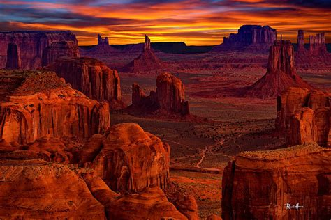 Home Artwork Decor hunts mesa lookout over monument valley photograph by russ