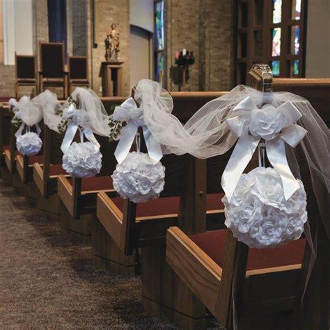 White Rose Pomander Kissing Ball   Wedding Ceremony Ideas