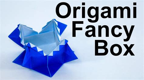 Origami Fancy Box - origami fancy box tutorial traditional my crafts and