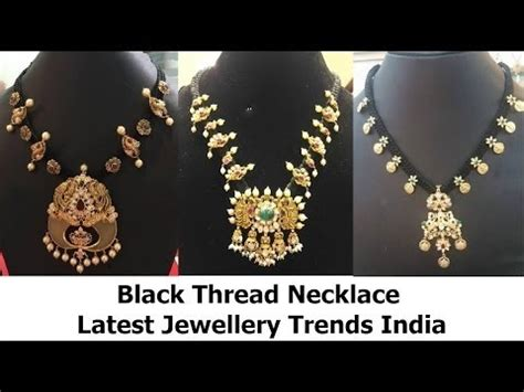 5 Jewelry Trends For 2011 by Black Thread Necklace Jewelry Trends India