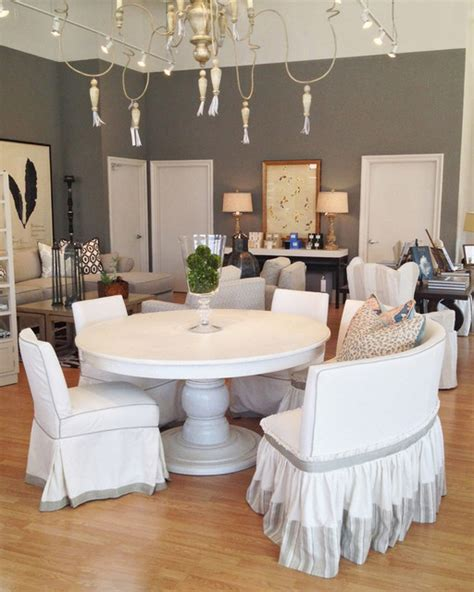 all white dining room traditional dining room los