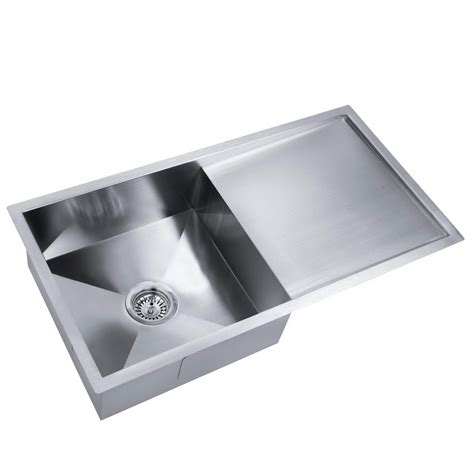 stainless steel kitchen laundry sink  draining board    mm