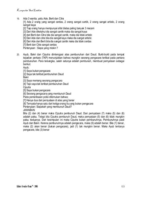 Soal CPNS - Test logika formil