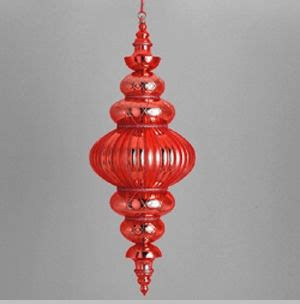 outdoor decorations shatterproof red jumbo finial