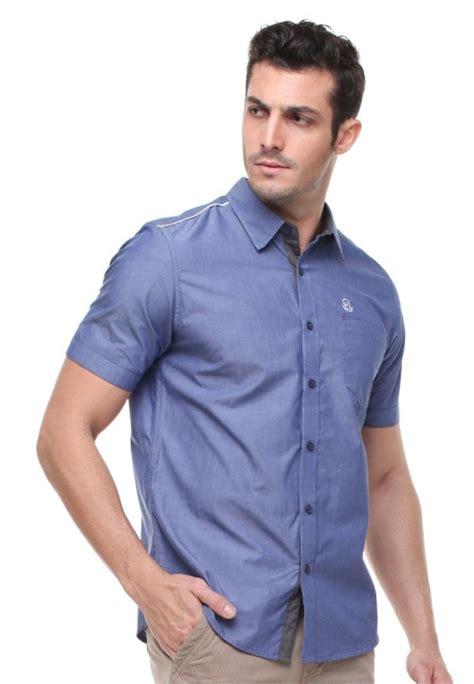 Special Kemeja Casual Pria Pl 0 Baju Cowok Semi Formal Slimfit Katun slim fit kemeja casual active logo johnwin biru