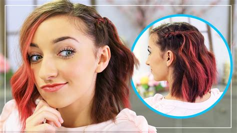 hairstyles for going out dancing bailey s diy side frenchback short hairstyle ideas youtube