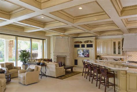 Coffered Ceiling Vs Tray Coffered Ceilings Make Your Home Original Architectdir