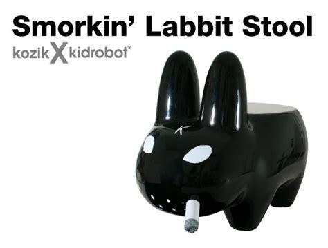 Smorkin Labbit Stool by Preview Smorkin Labbit Stool Black Kidrobot