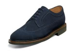 florsheim mens haviland wingtip dress shoes navy blue suede 12084 410 ebay