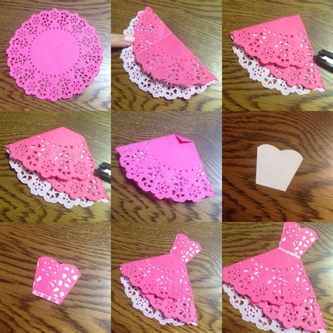 how to fold and make doily dress gt gt handmade cards