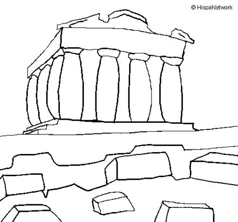 free coloring pages of the parthenon