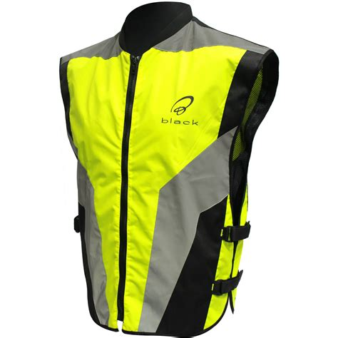 reflective cycling jacket black hi vis reflective motorcycle vest motorbike