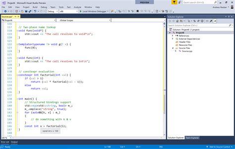 Visual C c and c coding tools visual studio