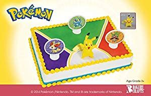 pokemon birthday cake topper decorating kit     shipping   left