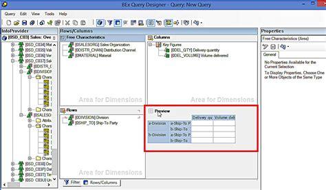 tutorial sap query designer sap bex query designer how to create a simple query