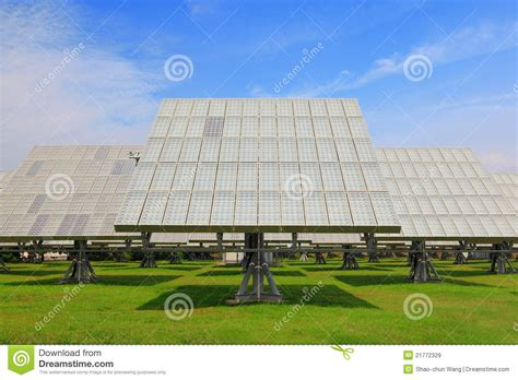 solar panel with green grass royalty free stock images