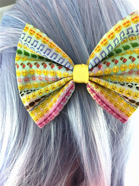 Handmade Hair Bows For Sale - sale rainbow emoji girly handmade hair bow with clip