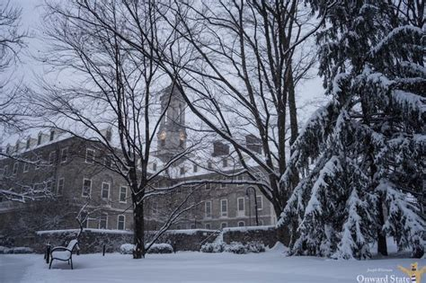snow blankets the university park cus penn state university state college pa snow blankets the centre region