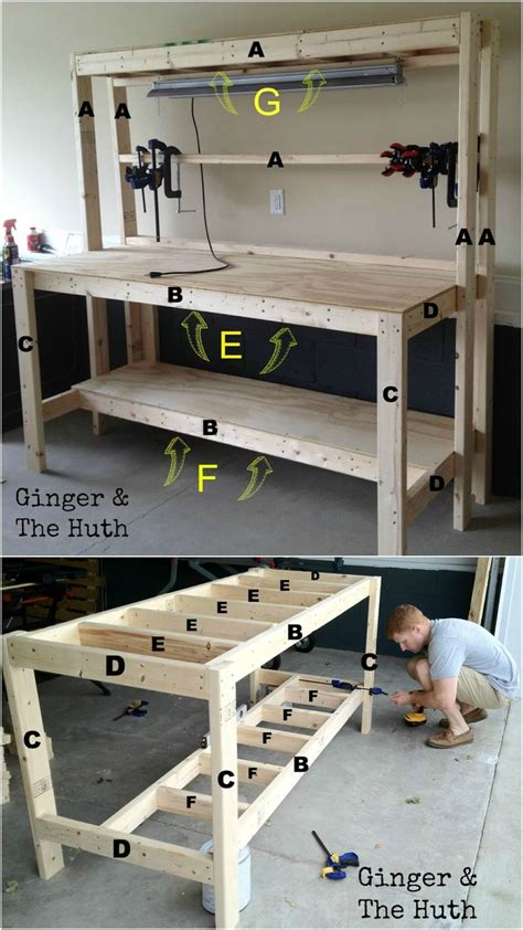 workshop bench plans ginger the huth diy work bench workspace jeweler