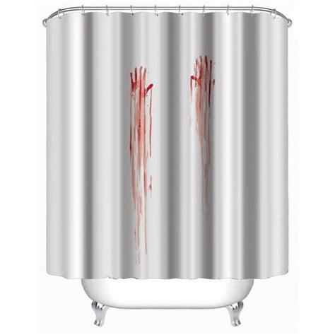 easy to install curtains blood handprint shower curtain stylish family bathroom