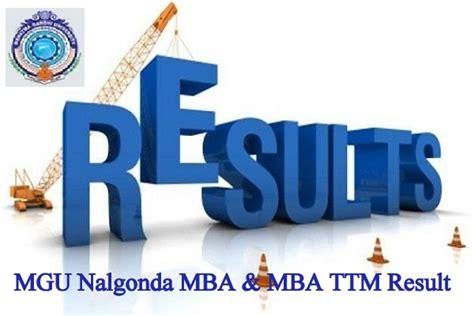 Mgu Mba Results by Mgu Nalgonda Mba Mba Ttm 2nd 4th Sem Result 2018