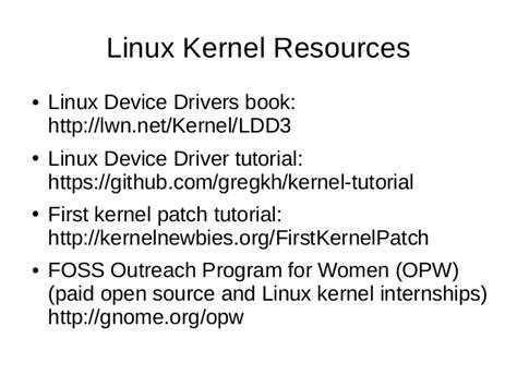 github kernel tutorial breaking into open source and linux a usb 3 0 success story