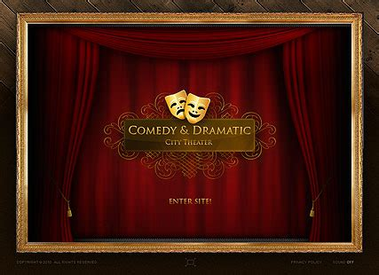 Dramatic Theater Flash Website Template Best Website Templates Microsoft Powerpoint Templates Theatre