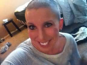 forced head shave women woman who shaved her head to support cancer suffering