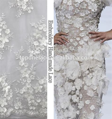 Wholesale Western Home Decor by Gorgeous Pink 3d Lace Fabric Embroidered Bridal Lace