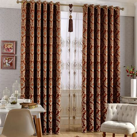 suede blackout curtains european style embossed floral patterned suede blackout