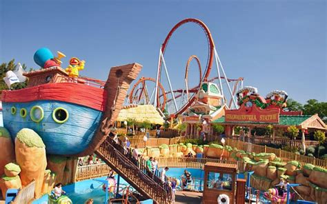 theme park resorts uk portaventure theme park costa dorada spain daily mail