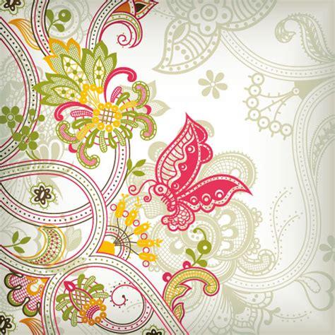 old pattern art vintage flower pattern background vector art free vector