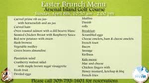 easter lunch buffet menu easter brunch buffet arsenal island golf course