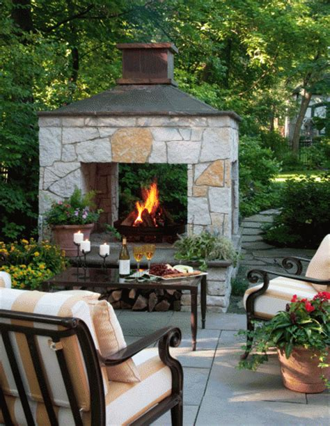 Patio Fireplace Designs 20 Outdoor Fireplace Ideas Midwest Living