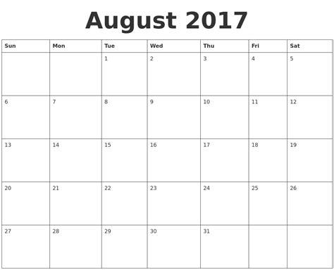 Calendar August August Calendars
