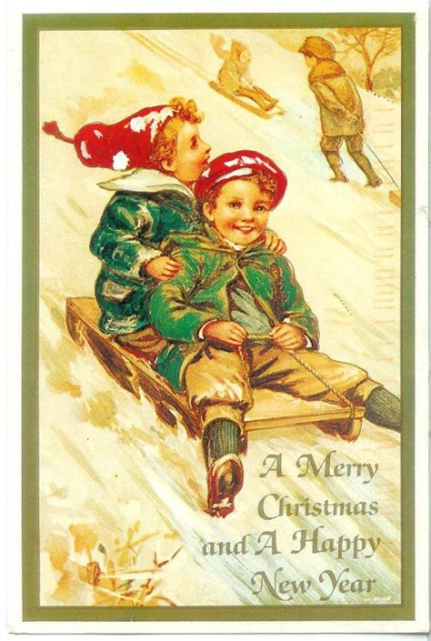 merry christmas   happy  year remembering letters  postcards