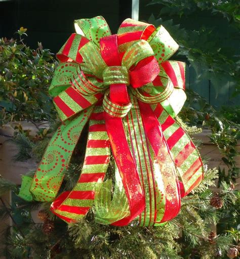 christmas tree bow bow topper wreath bow treetop bow