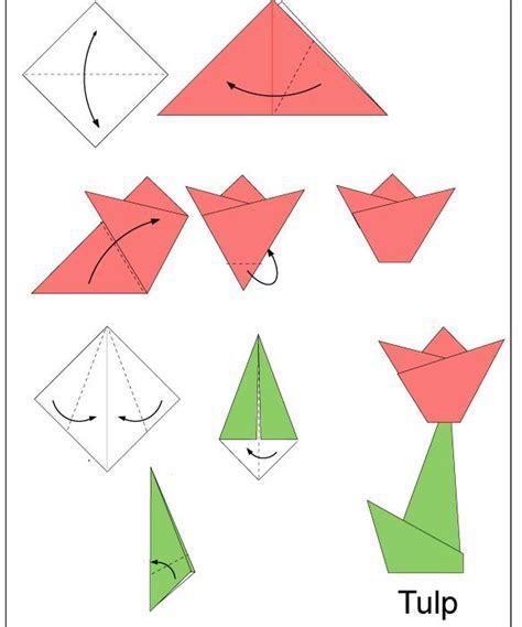 Origami For Preschool - tulp vouwen papier en servetten vouwen met een leuke
