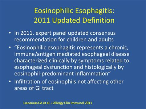 predominant definition eosinophilic esophagitis an allergy perspective ppt