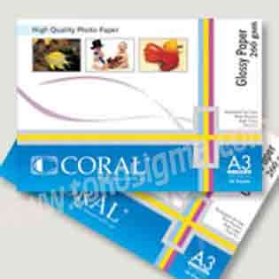 Coral Photo Paper A3 Glossy High Quality coral photo paper a3 glossy 260gr toko sigma
