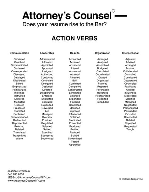 Resume Verbs For Lawyers 17 Best Ideas About Verbs On Verbs Verbs In And Learning