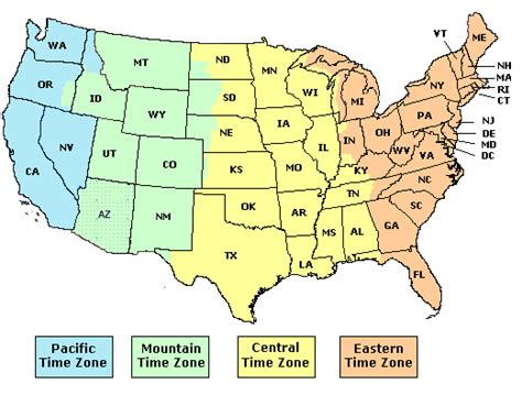 map of us time zones by state time zone map and shipping