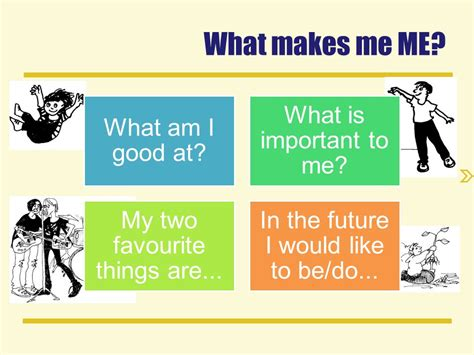 What Makes Me Me - what makes me me what am i good at what is important to