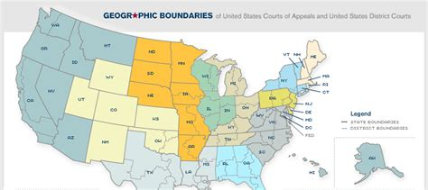 united states district courts california map geographic boundaries
