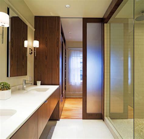 pocket door bathroom design modern bathroom design ideas showcasing wooden pocket door with frosted glass panels