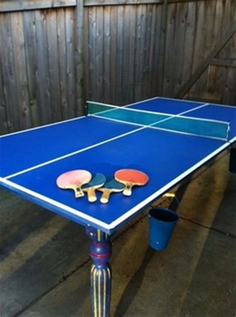 diy outdoor ping pong table build an outdoor ping pong table