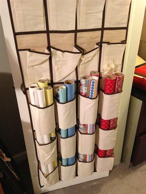 How To Wrap A For Storage by 17 Best Ideas About Wrapping Paper Storage On