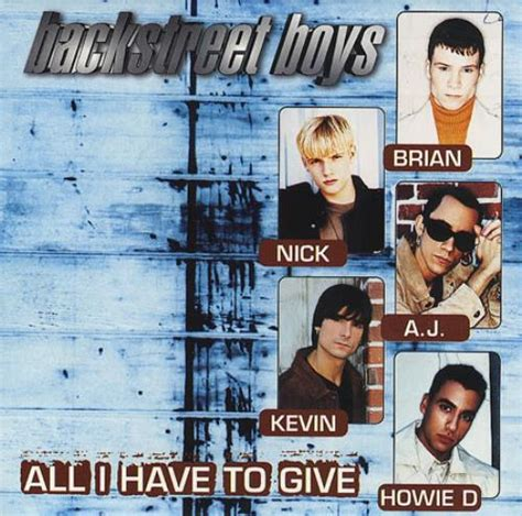 all i have to give backstreet boys all i have to give mexican promo cd single