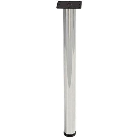 polished chrome desk accessories 28 quot desk height legs 3 quot diameter single polished